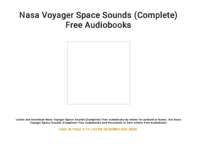 Nasa Voyager Space Sounds (Complete) Free Audiobooks