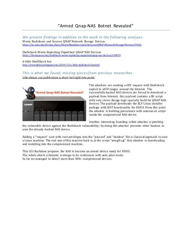 NAS Botnet Revealed - Mining Bitcoin