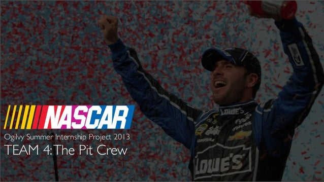 NASCAR TEAM 4:The Pit Crew Ogilvy Summer Internship Project 2013