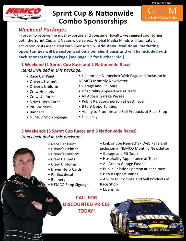 NASCAR Sponsorship Package – Race Car Sponsorship Proposal Template