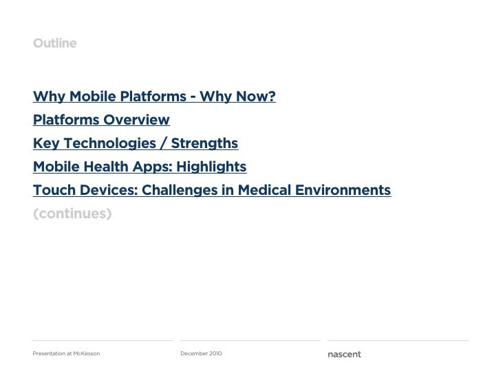 Mobile Health   nascent at McKesson Slide 3