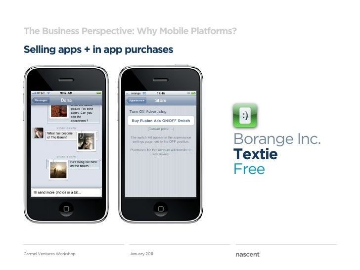 The Business Perspective: Why Mobile Platforms?Selling apps + in app purchases                                            ...