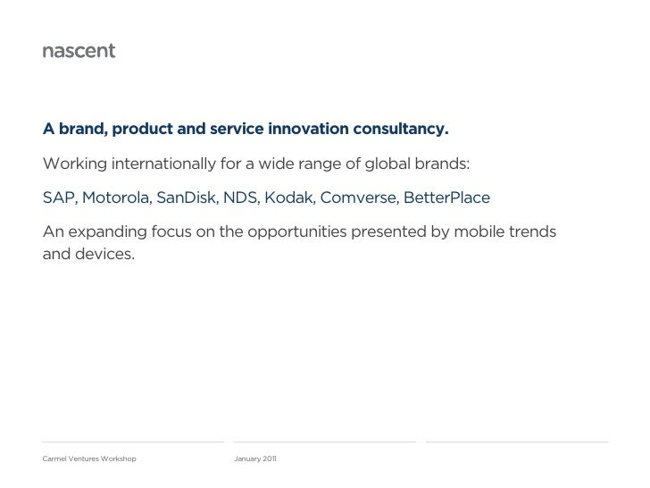A brand, product and service innovation consultancy.Working internationally for a wide range of global brands:SAP, Motorol...