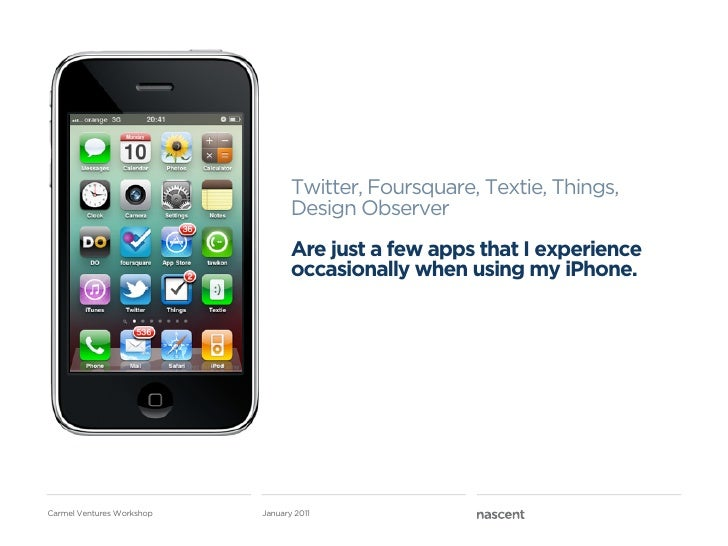 Twitter, Foursquare, Textie, Things,                                  Design Observer                                  Are...
