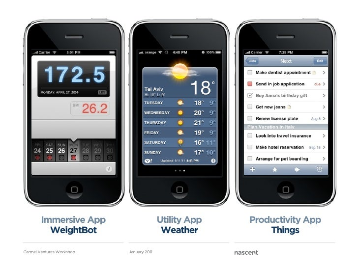 Immersive App                     Utility App   Productivity App          WeightBot                        Weather        ...