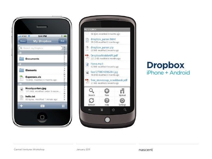 Dropbox                                          iPhone + AndroidCarmel Ventures Workshop   January 2011