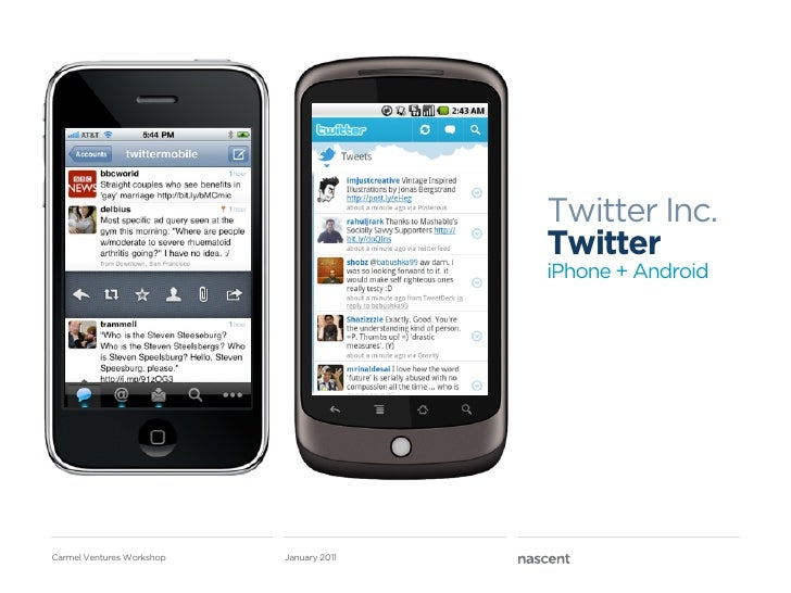 Twitter Inc.                                          Twitter                                          iPhone + AndroidCar...