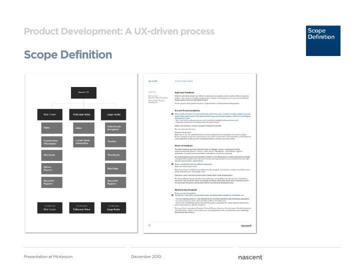 Product Development: A UX-driven processScope Definition                           NewCo TV          UIphonePresentation a...