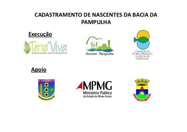 CADASTRAMENTO DE NASCENTES DA BACIA DA  PAMPULHA  Execução  AAppooiioo