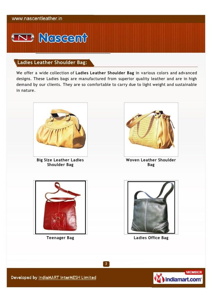 3af7dfc6b31a Ladies Leather Shoulder Bag We ...