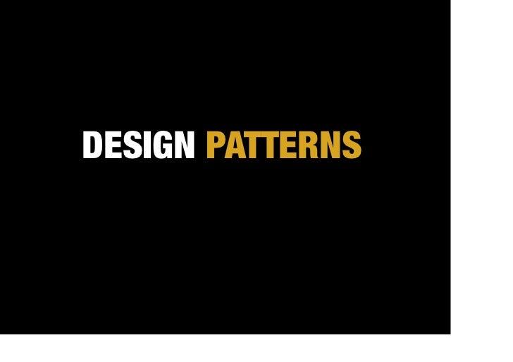 DESIGN PATTERNS                     FOR NAVIGATION