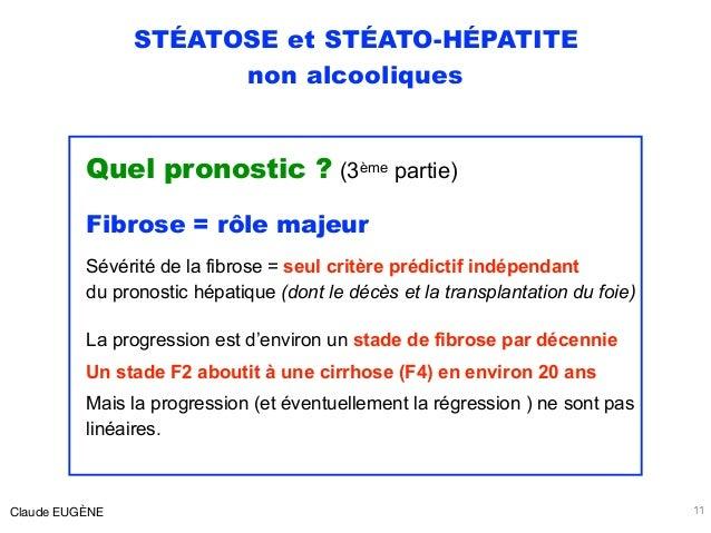 STÉATOSE et STÉATO-HÉPATITE non alcooliques Quel pronostic ? (3ème partie) Fibrose = rôle majeur Sévérité de la fibrose = ...