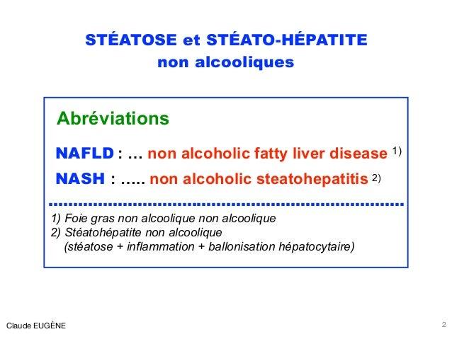 STÉATOSE et STÉATO-HÉPATITE non alcooliques Abréviations NAFLD : … non alcoholic fatty liver disease 1) NASH : ….. non alc...