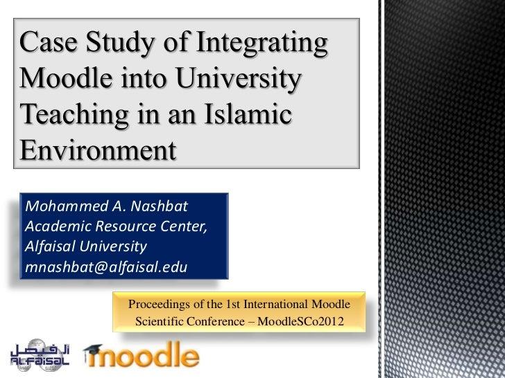 Mohammed A. NashbatAcademic Resource Center,Alfaisal Universitymnashbat@alfaisal.edu              Proceedings of the 1st I...