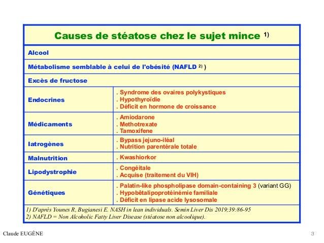 STEATOSE CHEZ LE SUJET MINCE Slide 3