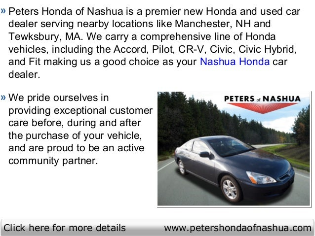 nashua honda nh peters honda of nashua nh serving