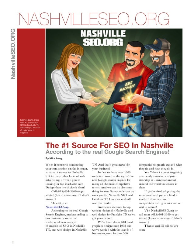 NashvilleSEO.ORG  NASHVILLESEO.ORG  NashvilleSEO.org is your #1 source for SEO in Nashville TN according to the real Googl...
