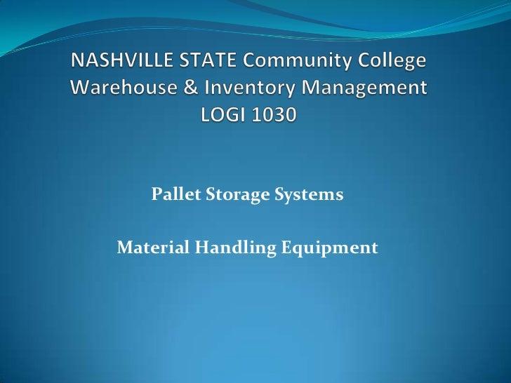 Pallet Storage SystemsMaterial Handling Equipment