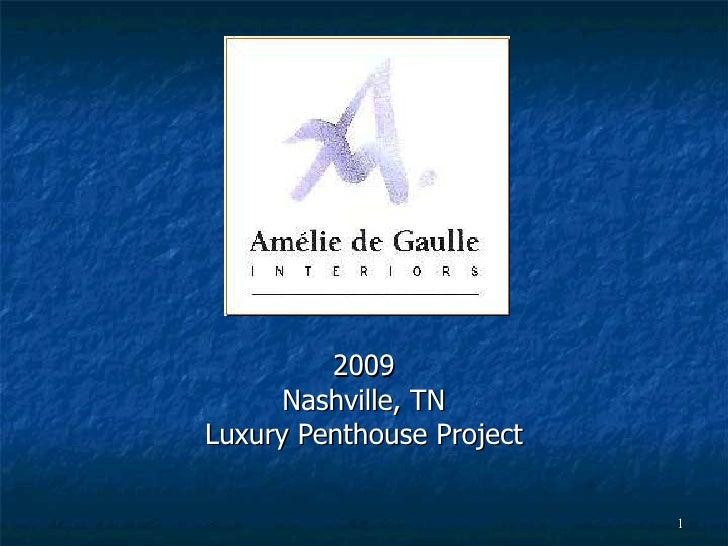 2009 Nashville, TN Luxury Penthouse Project