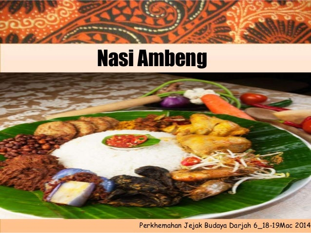 Nasi Ambeng  Perkhemahan Jejak Budaya Darjah 6_18-19Mac 2014
