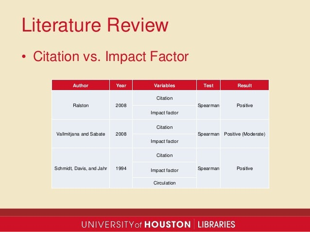 Beyond Journal Impact and Usage Statistics: Using Citation