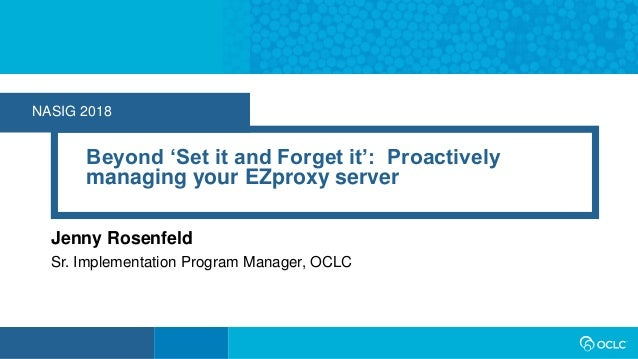 Beyond 'Set it and Forget it': Proactively managing your