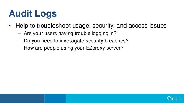 Beyond 'Set it and Forget it': Proactively managing your EZproxy serv…