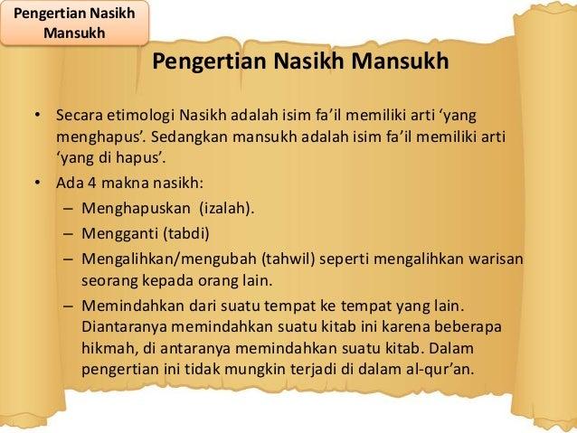 Naskh Mansukh