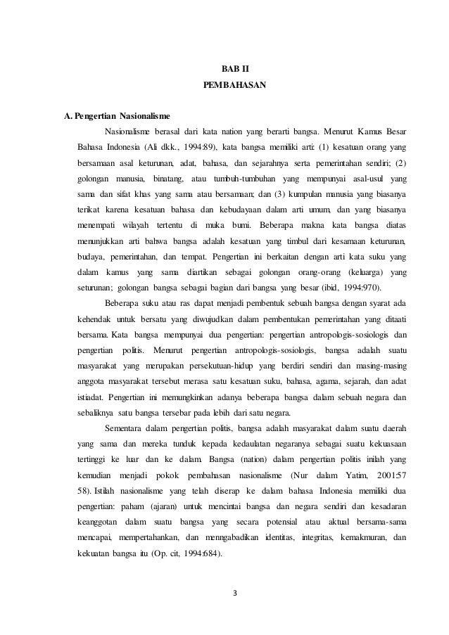 contoh essay tentang semangat nasionalisme