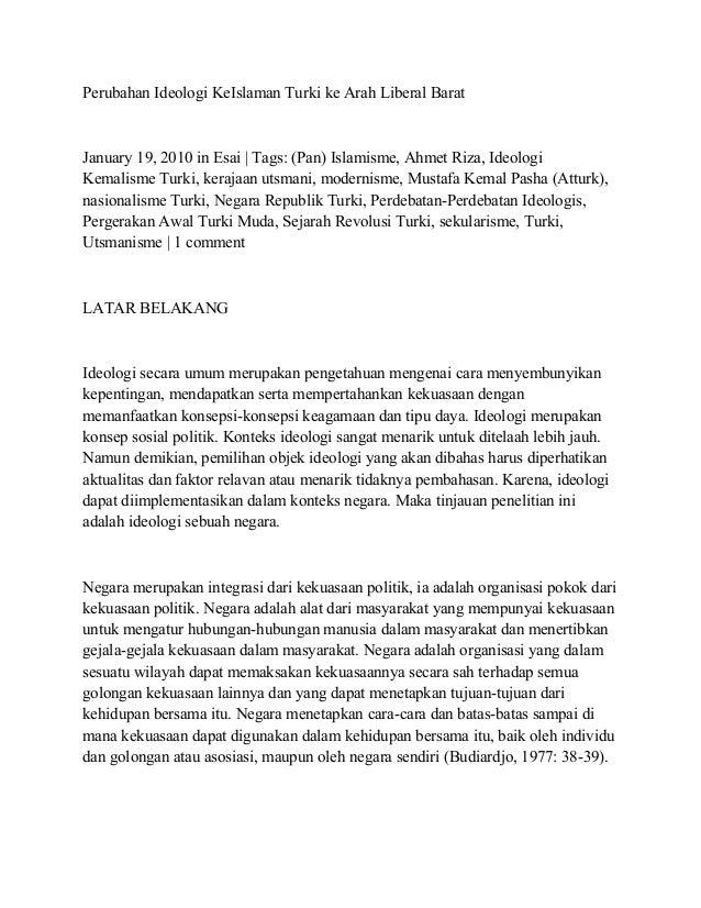 Nasionalisme Turki Gerakan Turki Muda