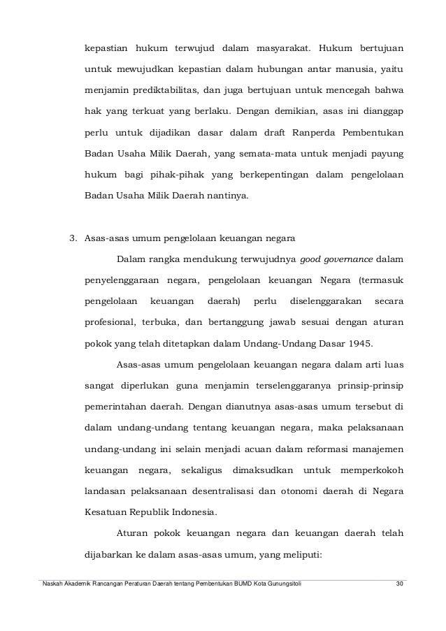 Naskah Akademik Perda Bumd Gunungsitoli