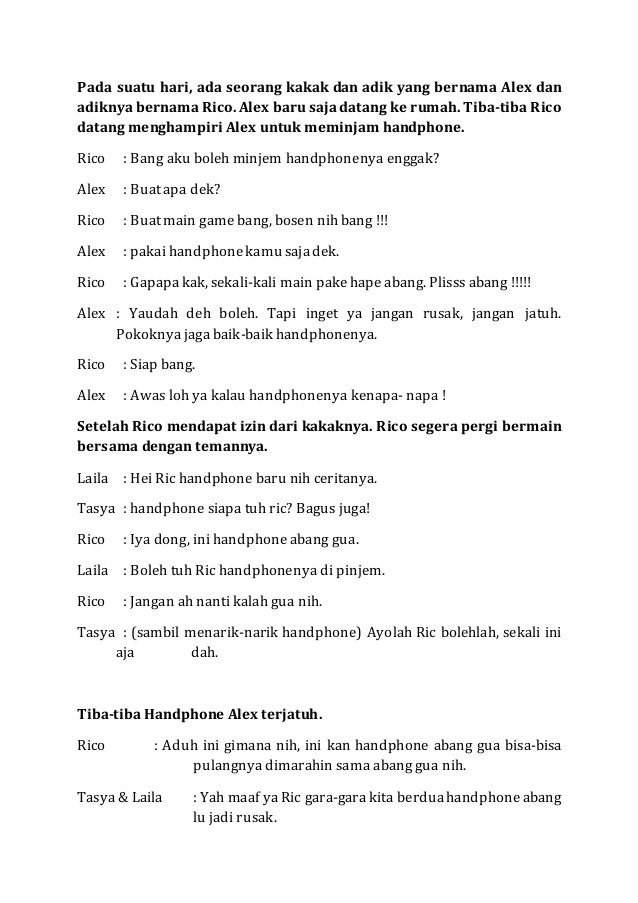 Naskah Drama Negosiasi Bahasa Indonesia Kelas X Ipa 2