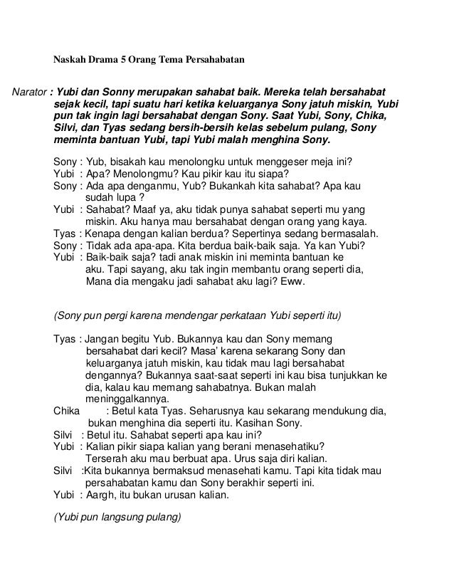 Dialog Drama Bahasa Jawa 6 Orang Lasopaasia