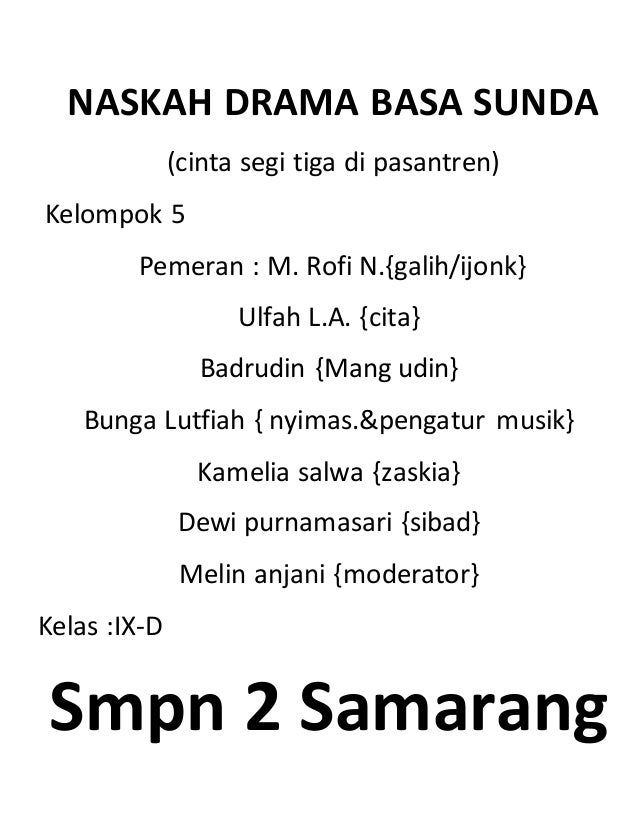 Naskah Drama Bodor Sunda 5 Orang Fashion Movie Songs Hd