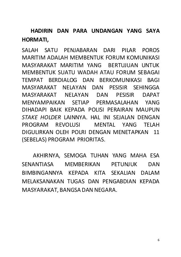 Naskah Pidato Kapolda Jambi Akbp Dadang Djoko Karyanto