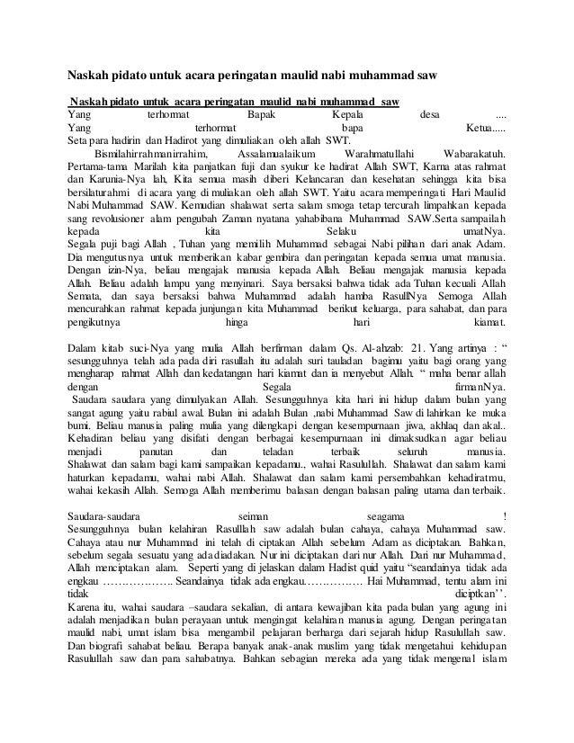 Contoh Ceramah Nabi Muhammad - Contoh War