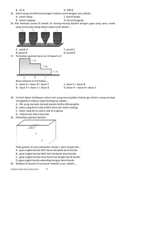 Soal Ulangan Akhir Semester Sd Kelas 5