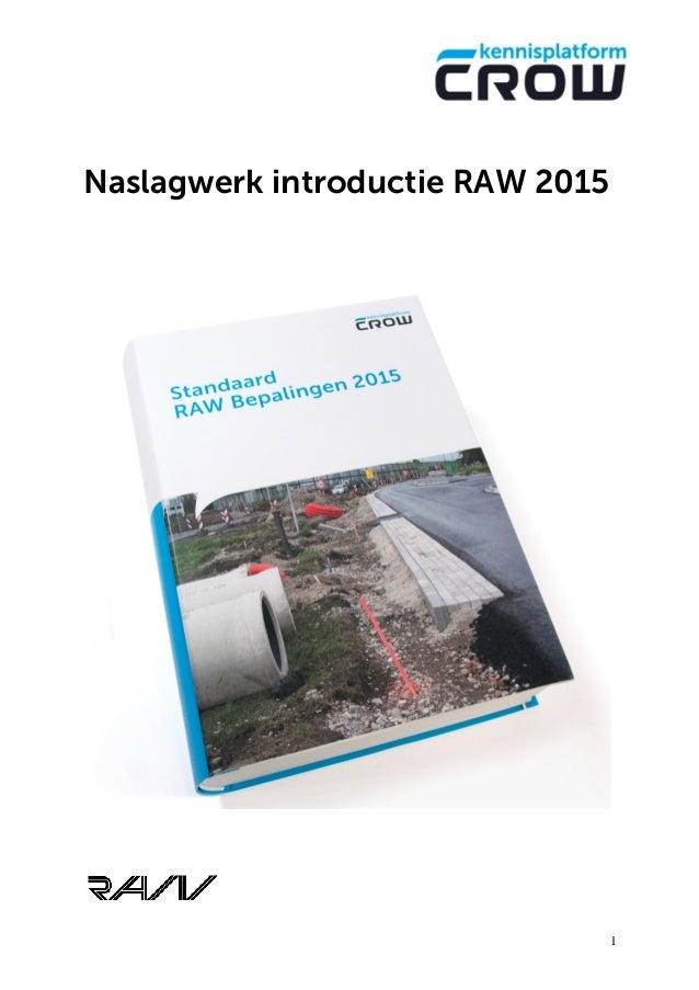 1 Naslagwerk introductie RAW 2015