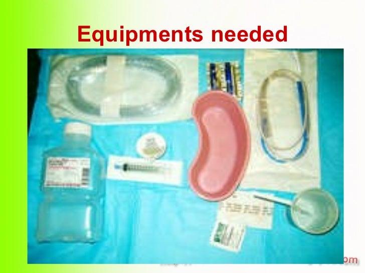 Equipments needed