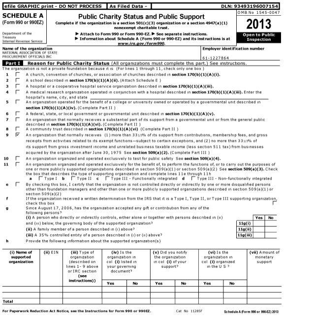 NASPO 2013 Form 990