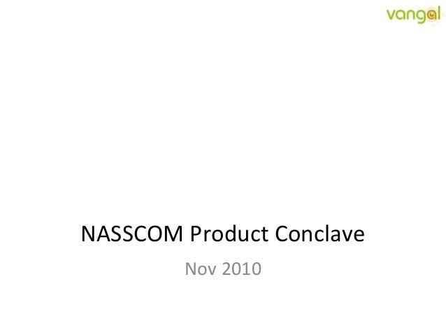 NASSCOM Product Conclave Nov 2010