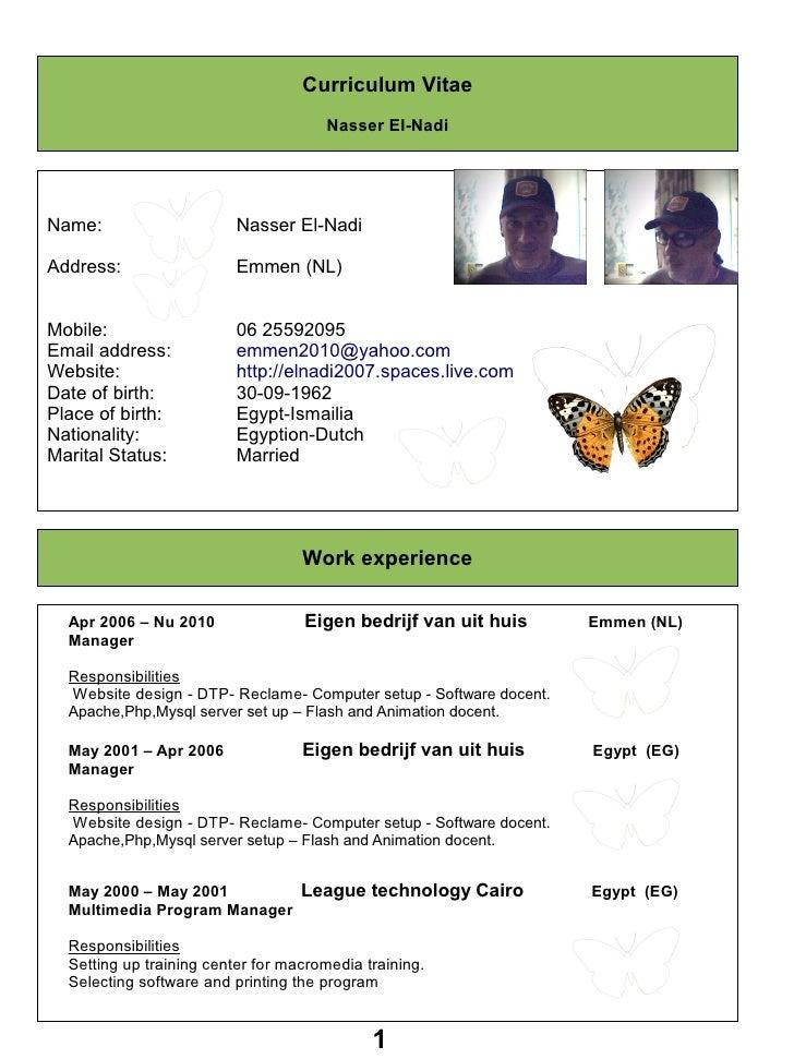 Curriculum Vitae                                       Nasser El-Nadi     Name:                     Nasser El-Nadi  Addres...