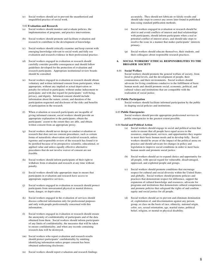 photograph regarding Nasw Code of Ethics Printable called Nasw Code Of Ethics