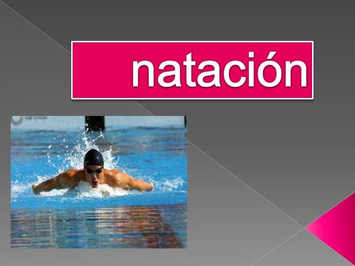 natación<br />