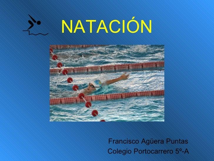NATACIÓN Francisco Agüera Puntas Colegio Portocarrero 5º-A