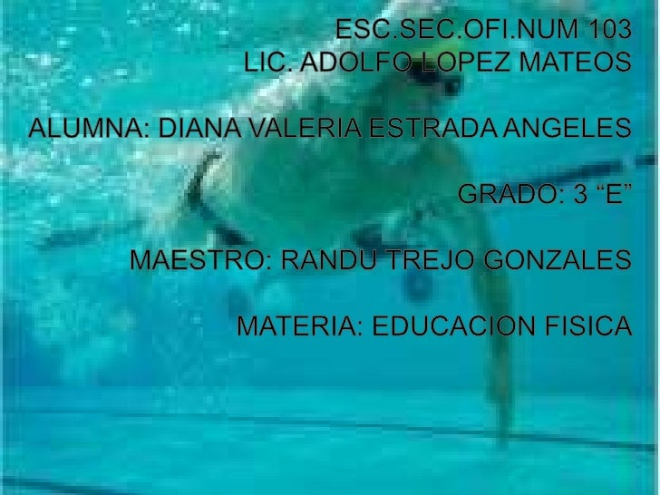 """ESC.SEC.OFI.NUM 103<br />LIC. ADOLFO LOPEZ MATEOS<br />ALUMNA: DIANA VALERIA ESTRADA ANGELES<br />GRADO: 3 """"E""""<br />MAESTR..."""