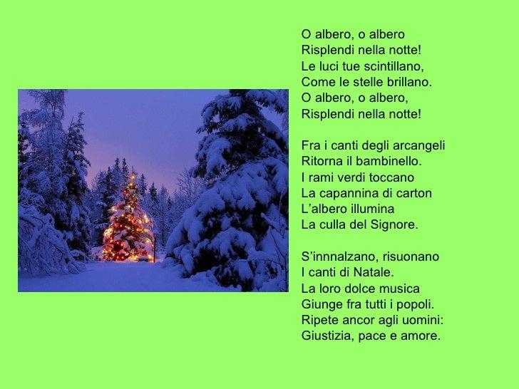 O albero canzone di natale testo