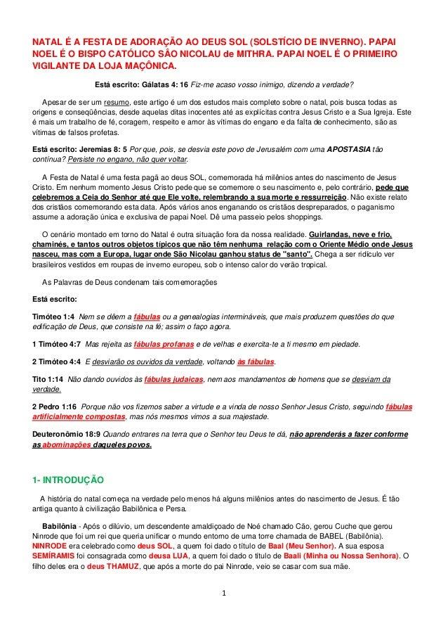 22d3feaf6094 1 NATAL É A FESTA DE ADORAÇÃO AO DEUS SOL (SOLSTÍCIO DE INVERNO).