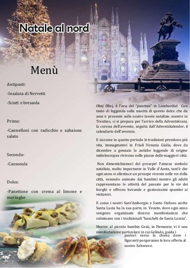 Menu Di Natale Tradizionale Veneto.Natale Al Nord