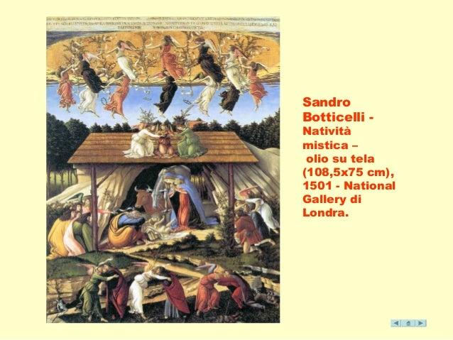 Sandro  Botticelli -  Natività  mistica –  olio su tela  (108,5x75 cm),  1501 - National  Gallery di  Londra.